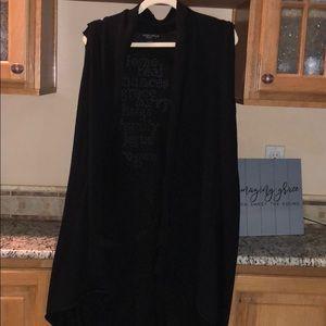 Long vest black 3x